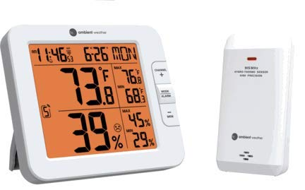Ambient Weather WS-8482 7-Channel Wireless Internet Remote Monitoring Weather Station with Indoor/Outdoor Temperature & Humidity, Compatible with Alexa, White