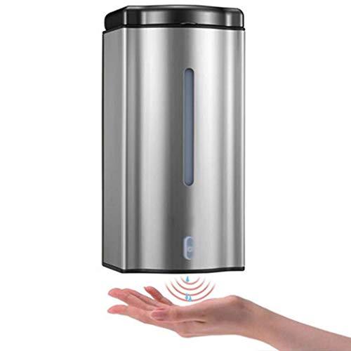 GOPG Automatischer Seifenspender, Edelstahl Touchless Infrarot Wandmontage Shampoo Duschgel Badezimmer Küche Spender-Seifenspender-600ml