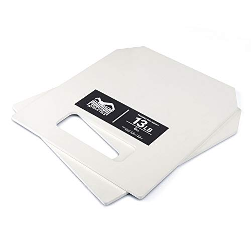 Phantom Athletics - Chaleco para lastre, con distintos pesos, fácil de ajustar, Unisex, PHVEST00608, Juego de placas de peso de 6 kg, sin chaleco