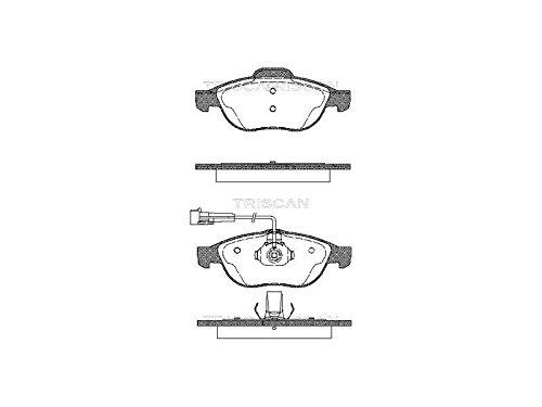 Preisvergleich Produktbild Triscan 8110 12002 Bremsbelagsatz,  Scheibenbremse - (4-teilig)