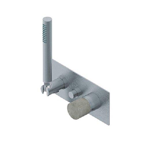Rubinetteria Ritmonio Diametro35 Inox Concrete miscelatore vasca/doccia E0BA0436FICM
