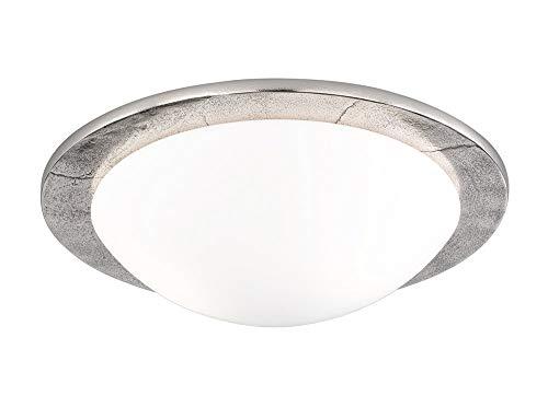 SHINE 13098 A++ to E, Deckenleuchte, Aluminium, 40 W, E27, Nickel Antik, 38 x 38 x 11,5 cm