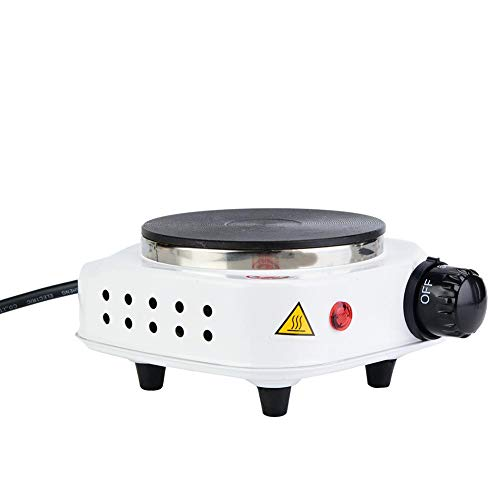 Tosuny Draagbare enkele kookplaat, elektrische mini-fornuis, multifunctionele verwarming, elektrisch fornuis, kookplaat met temperatuurregeling, EU.