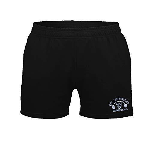 """Pantaloncini da 5 """"per bodybuilding, allenamento e traning realizzati in cotone spugna 95% e spandex 5%. Tessuto super morbido, di medio peso e elasticizzato. Anche una buona scelta di casual 5 shorts insas per passeggiate o sport all'aria aperta. La..."""