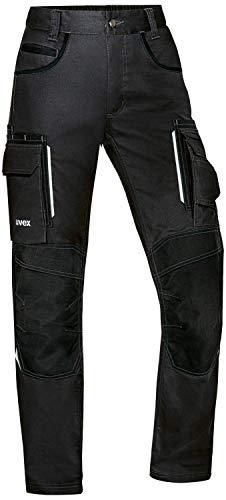 Uvex Tune-up - Pantalones Largos de Trabajo para Mujer - con Bolsillos en Las Rodillas - Negro 36