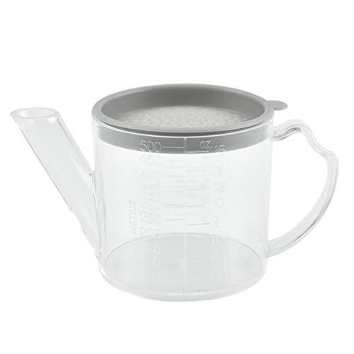 Cabilock Jarra de separación de grasa con filtro de plásti