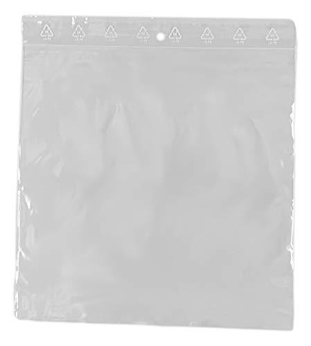 5 zip bolsas bolsa de 200 x 200 mm con cremallera de cierre 20 X 20 cm cierre a presión estándar ECE alimentairet compatible congelación