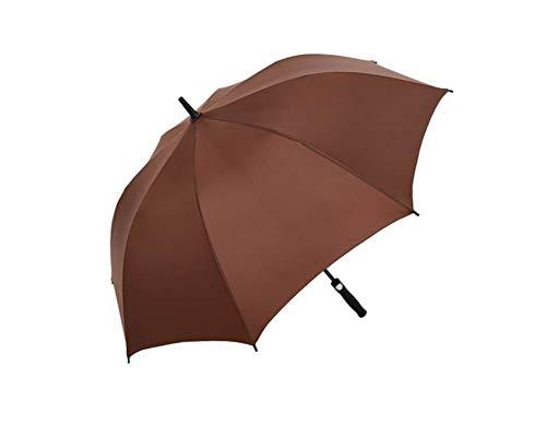 Paraguas de Gran tamaño Extra Grande Doble con Dosel ventilación a Prueba de Viento Impermeable del palillo de los Paraguas (Color: Café)