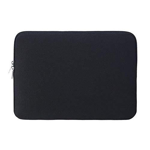 Mazu Homee 11-15 pulgadas múltiples colores y opciones de tamaño, funda para portátil/maletín impermeable de neopreno para tablet portátil, bolso Macro A, Asus / Dell / Lenovo-negro