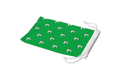 Bonamaison Bolsa para Gafas de Sol con impresión Digital, 100% algodón, Suave y Delgada, Funda Protectora para Gafas con Cierre de cordón, 1 Pieza, 11 x 19 cm