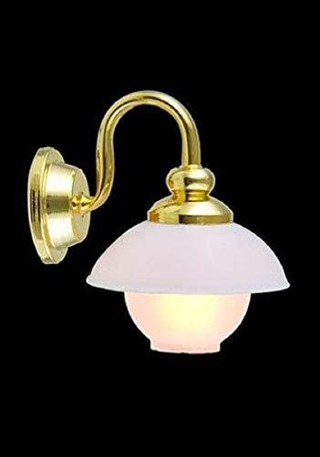 Melody Jane Casa de Muñecas Globe con Sombra Lámpara de Pared 12V Candelabro Iluminación Eléctrica