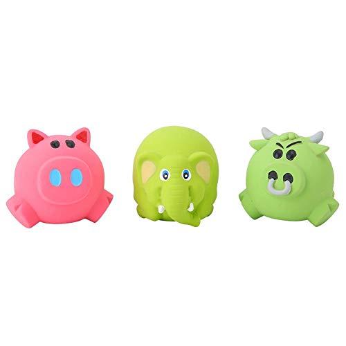 Kauwspeelgoed voor huisdieren, driedelige dieren Piepend speelgoed Latex training bijtspeelgoed slijpspeelgoed voor puppy's van hondenkatten