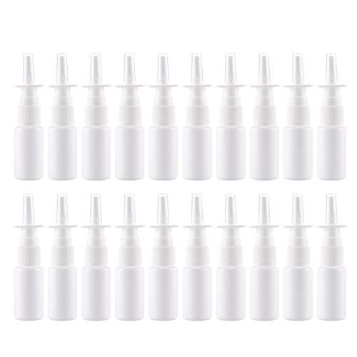 SUPVOX 20 Stücke 50 Ml Leere Nachfüllbare Nasenspray Flaschen Feinnebelsprühgeräte Zerstäuber Vial Topf für Salzwasser Öle Medizinische Reise