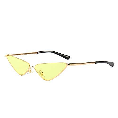 LAMZH Gafas de sol de moda de medio marco de gafas de sol estrechas piezas de estilo marino moderno retro al aire libre fotos accesorios (color: amarillo)