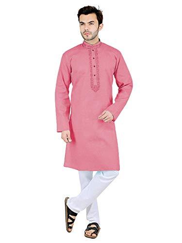 Fervenzi Men's Cotton Regular Kurta and Pyjama Set