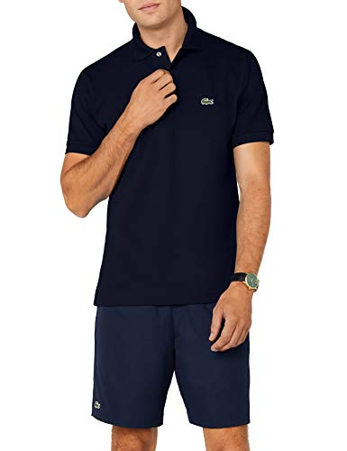 Lacoste - L1212 - Polo - Coupe droite - Manches courtes - Homme - Bleu (Marine) - M (Taille Fabricant :  FR 4)