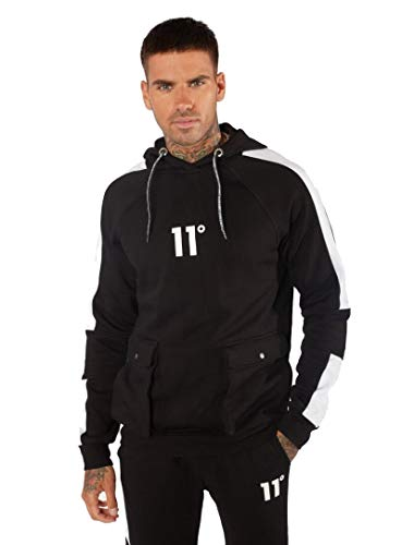 11 Degrees Utility Pullover Hoodie - Black