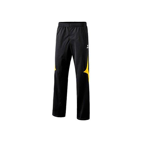 Erima Herren Polyesterhose Razor, schwarz/gelb, S/M, 110110