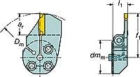 サンドビック コロターンSL コロカット1・2用端面溝入れブレード 570-32L123J18B175B