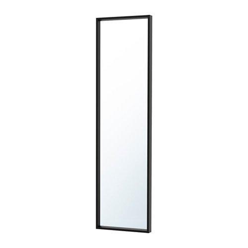 Ikea nissedal Espejo en negro; (40x 150cm)