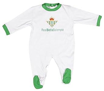 Real Betis Balompié Pelbet Pelele, Bebé-Niños, Multicolor (Blanco / Verde), 06