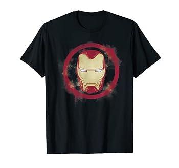 Marvel Avengers Endgame Iron Man Spray Paint Logo T-Shirt