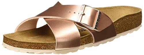 BIRKENSTOCK Damen Siena Sandalen, Braun (Electric Metallic Copper Electric Metallic Copper), 37 EU
