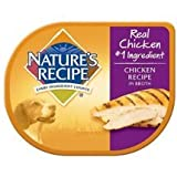 6 Individual Trays of Nature's Recipe Chicken Recipe in Broth Wet Dog Food, 2.75 oz ea
