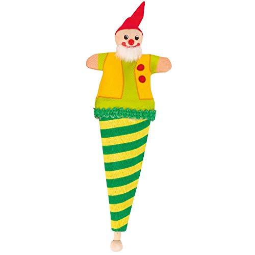 Goki Capserl - Mini marionetas para bolsas, color amarillo y verde