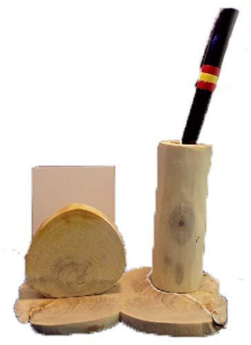 Soporte para boligrafo y papel de madera de Naranjo Canario