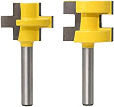Wolfride Tongue and Groove Router Bit Set 1/4 Shank Flooring Router Bit Set