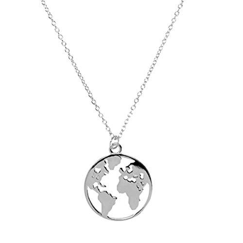 LENIRA Weltkugel Frauen Halskette (Silber)