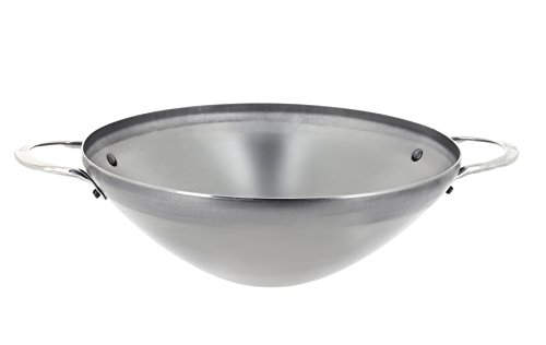 DE BUYER -5619.32 -wok mineral b 2 anses ø32cm