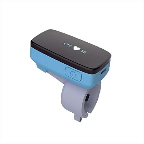 Moniteur d'oxygène de sommeil avec alerte de apnée du sommeil - Alerte de taux d'oxygène / fréquence cardiaque avec capteur de sonnerie, oxymètre de pouls avec rapport français APP