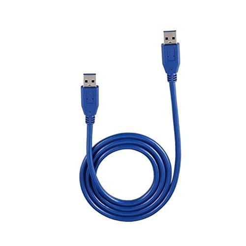 USB 3.0 Tipo A Macho a Tipo A Cable de extensión Macho - Portátil Azul Sólido 3FT / 1M Computadora SuperSpeed USB 3.0 Tipo A Macho a Tipo A Macho M/M Cable de extensión M2M Cable - Azul