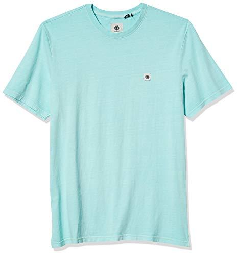 Element Herren Sunny Short Sleeve Knit Button Down Hemd, Canal Blue, Groß