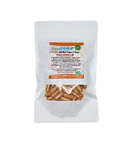 Turmeric Curcumin with Organic Black Pepper & Organic Ginger - 90 Vegan Capsules - HIGH Potency