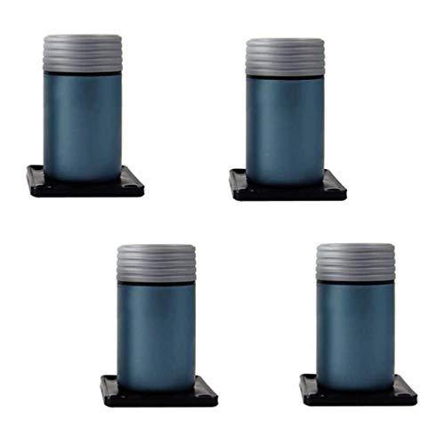 SONGYU Pernas de móveis, pernas ajustáveis de móveis × 4, pés de sofá de plástico, pernas de substituição para pés elevados, acessórios para cama de armário de 8 a 15 cm, 4 cores de mesa, mesa, mesa, cinza, 80 mm
