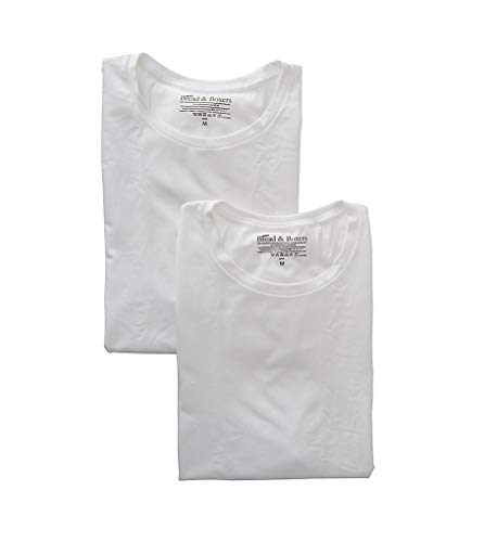 Bread & Boxers 2-Pack Crew-Neck T-Shirt White M