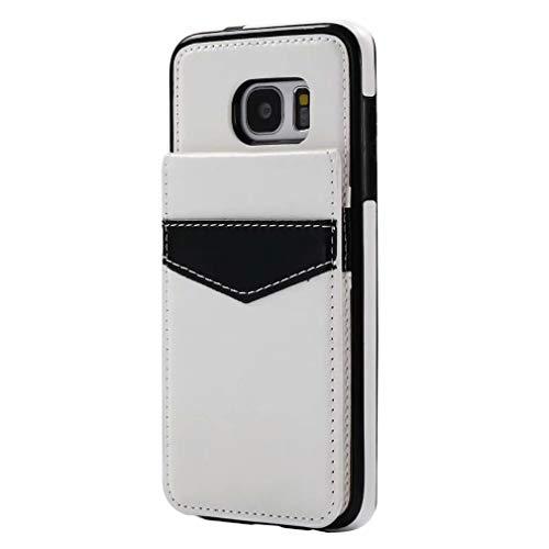 Samsung Galaxy S7 Hoes Geïmporteerd PU materiaal, multifunctionele achterklep portemonnee mobiele telefoon behuizingen door gy-honeq-S7-515-, Kleur: wit