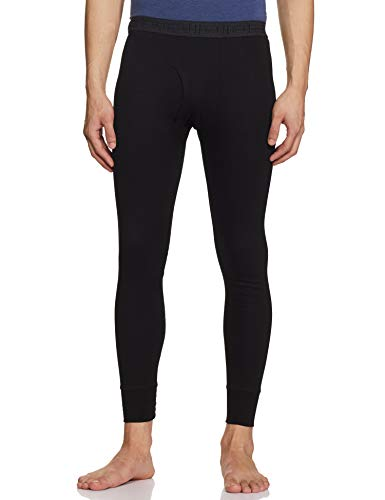 Rupa Plain Thermal Bottom (Torrido Men's Trouser 5501_Black_90)