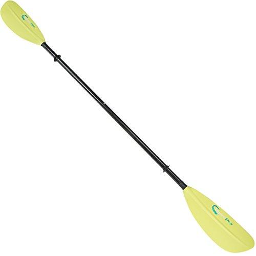 HydroPro 220 cm Carbon Fiber Kayak Paddle, Green