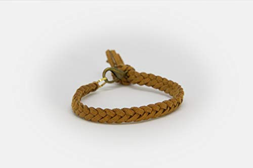 LoilJ Essential Oil Diffusing Bracelet - Braided 6in Cedar Brown