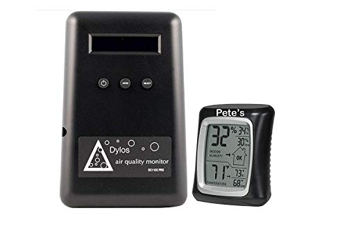 Dylos DC1100 Pro air Quality Monitor with Humidity Monitor(Bundled with Instructions Manual)