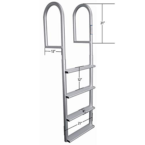 Dockmate Stationary Wide-Step Dock Ladder, 7-Step