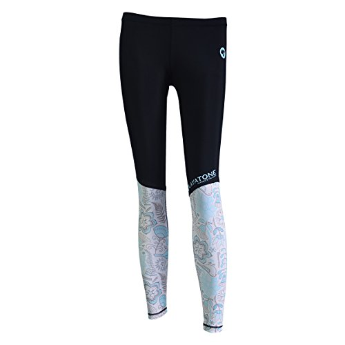 LayaTone Surfen Leggings Damen Sportleggings Rash Guard UV-Schutz Damen Schwimmhose Wetsuit Women