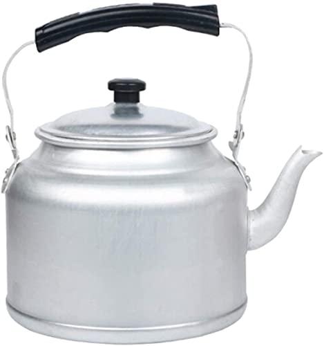 LHJCN Hervidor de té de Aluminio Antiguo Antiguo, hervidor de té ergonómico deplata,...