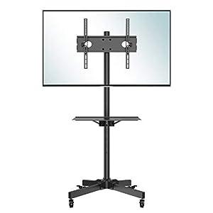 Flexible TV Ständer für die meisten Flachbildschirm/LCD/LED-Fernseher von 23 bis 60 Zoll mit einer maximalen Tragfähigkeit von 25 kg; VESA-Kompatibilität bis zu 400 x 400 mm; bequem für den Umzug auf Ihrem Flachbildschirm im Haus, im Geschäft und im ...