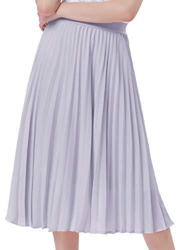 Kate Kasin Women's High Waist Casual Maxi Skirt A-line Grey Size S KK659-2