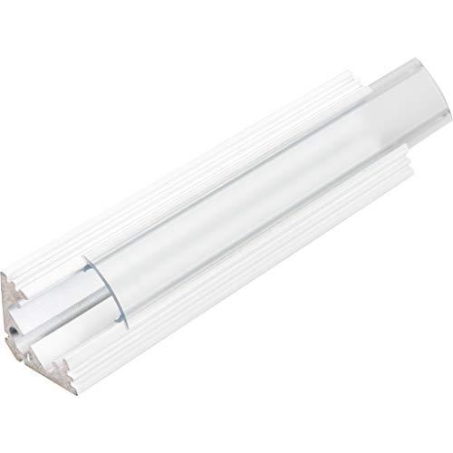 KIT de 4 x 1 mètre P3 Profilé en aluminium BLANC pour les bandes LED avec couvercles transparents, bouchons et clips de fixation